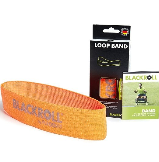 Blackroll Loop Band exercise bands - orange band with light resistance - with high quality, skin friendly fabric for resistance training, muscle strengthening and rehabilitation
